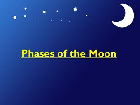 Phases of the Moon. Why does the moon have phases? The revolution of the Moon around the Earth causes the Moon to appear to have phases. When the moon.