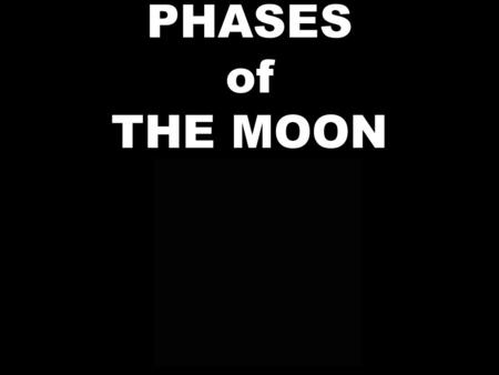 PHASES of THE MOON. Pre-test: Why does the moon have phases? How many phases are there? How long does it take the moon to go through all the phases? Name.
