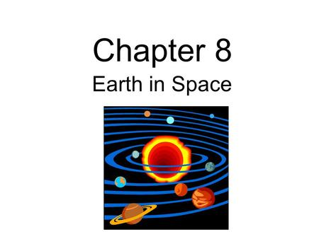Chapter 8 Earth in Space. How long does it take for Earth to complete one full rotation?