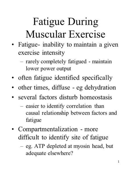 hypothesis on muscle fatigue Grip strength and muscle fatigue skeletal muscle is composed of bundles of individual muscle fibers microsoft word - 17 grip strength fatiguedoc author.