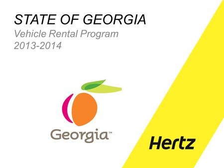 STATE OF GEORGIA Vehicle Rental Program 2013-2014.