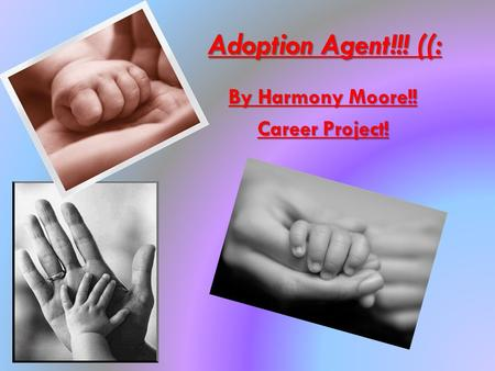 Adoption Agent!!! ((: By Harmony Moore!! Career Project!