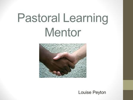 Pastoral Learning Mentor Louise Peyton. My Role My role as the Pastoral Learning Mentor in school enables me to promote a positive impact on children's.