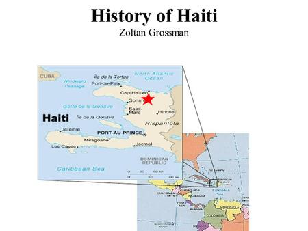 History of Haiti Zoltan Grossman. Colonized by French French ruled sugar plantations harshly in western half of Hispaniola. African slaves began speaking.