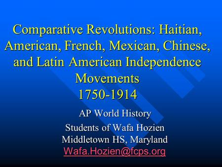 historical comparison haitian and american revolutions Revolutions have occurred throughout human history and vary the haitian revolution on 22 the american revolution was a political upheaval during.