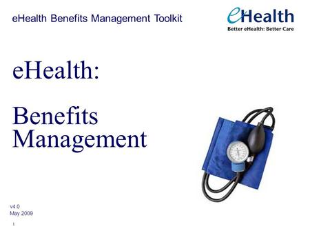 eHealth: Benefits Management