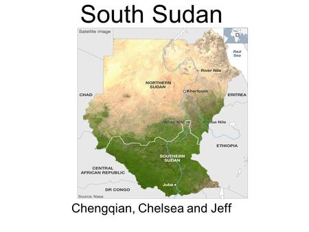 South Sudan Chengqian, Chelsea and Jeff. Colonial Period.