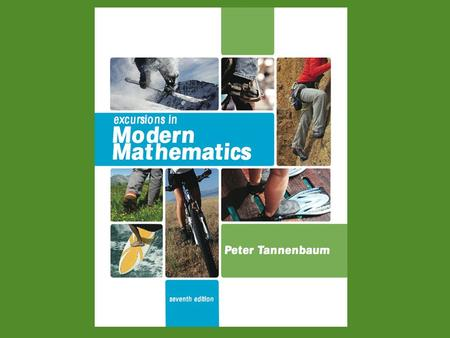 Excursions in Modern Mathematics, 7e: 2.3 - 2Copyright © 2010 Pearson Education, Inc. 2 The Mathematics of Power 2.1An Introduction to Weighted Voting.