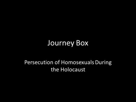 of homosexuals persecution