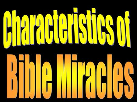 Introduction Many people believe that miracles are happening every day (babies born, saved from injury or death by unexplainable means, healed from cancer,