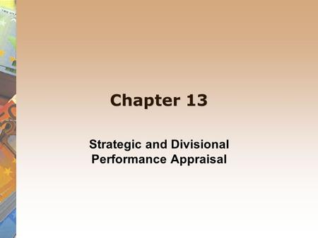 divisional performance evaluation Acca f5 lecture 17 divisional performance evaluation transfer pricing fxf rvr loading acca p5 divisional performance measurement.
