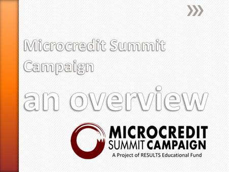 The State of the Microcredit Summit Campaign Report, 2014.