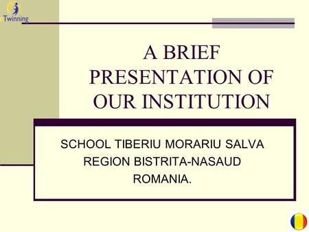 A BRIEF PRESENTATION OF OUR INSTITUTION SCHOOL TIBERIU MORARIU SALVA REGION BISTRITA-NASAUD ROMANIA.