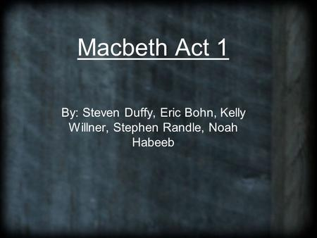 macbeth act 1 scene 1 study guide answers