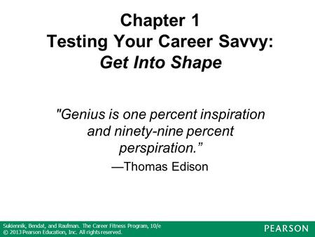 Chapter 1 Testing Your Career Savvy: Get Into Shape