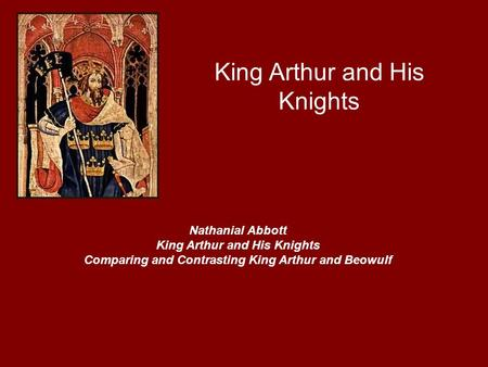 compare beowulf king arthur