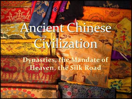 ancient china civilization essay