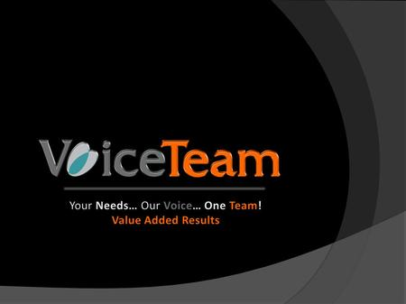 Presentation About Us Services Services Why VoiceTeam? Why VoiceTeam? Contacts Contacts.