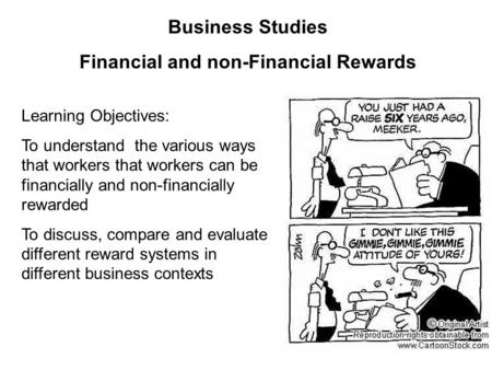 Financial and non-Financial Rewards
