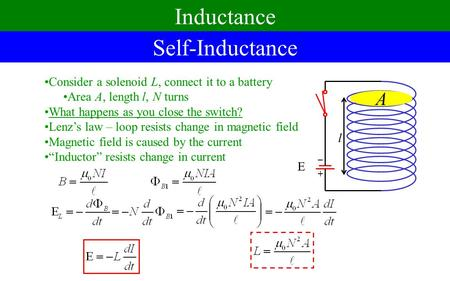 Inductance Self-Inductance A