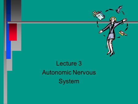 Lecture 3 Autonomic Nervous System. Chapter 20 Autonomic Nervous System n n Central Nervous System (CNS) - Brain and spinal cord n n Peripheral Nervous.