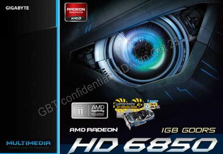Date: 2015/8/17 Main Features AMD RADEON HD 6850 GPU (Barts PRO) Support DriectX 11/ AMD HD3D GIGABYTE WINDFORCE™ cooling design 29.5% lower than stock.