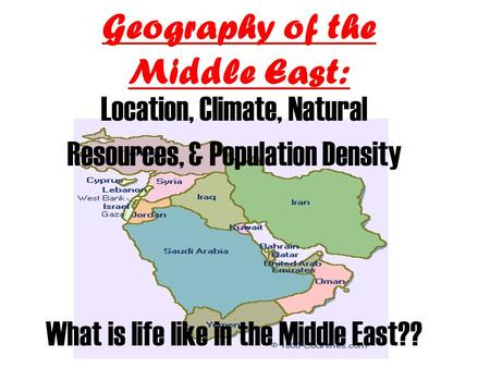 Geography of the Middle East: