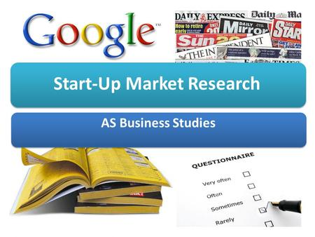 Start-Up Market Research