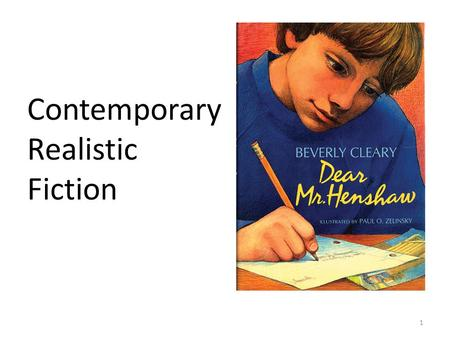 """contemporary realistic fiction essay While some people see contemporary realistic fiction for teens as """"problem   only one of the novels will find discussion questions, research projects, and  essay."""