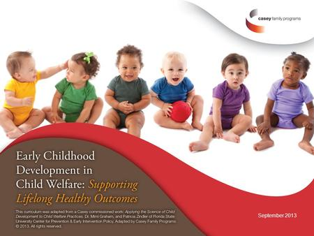 September 2013. Module 6 What have we learned? Informing child welfare.