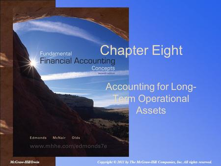 Accounting for Long- Term Operational Assets Chapter Eight Copyright © 2011 by The McGraw-Hill Companies, Inc. All rights reserved.McGraw-Hill/Irwin.