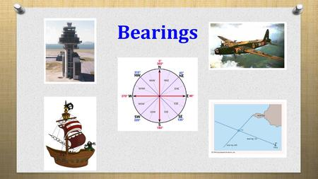 Bearings. Lesson Objective Lesson Success Criteria To learn how to work with bearings Can solve problems that include bearings.