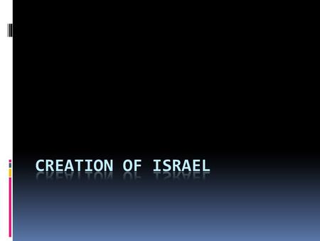 Israel Becomes a State  The Jewish population has long been the victim of various forms of oppression – it's important to know that this oppression was.