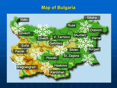 Map of Bulgaria. Haskovo - south Bulgarian town Location  Bulgaria is situated in the middle of the Balkan Peninsula.  Area - 110.099 sq. km.  Population.