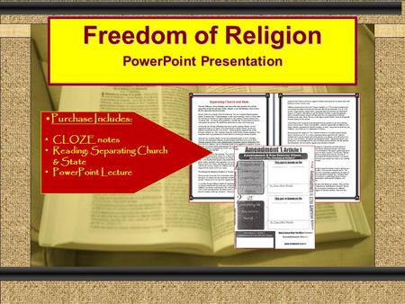 Freedom of Religion PowerPoint Presentation