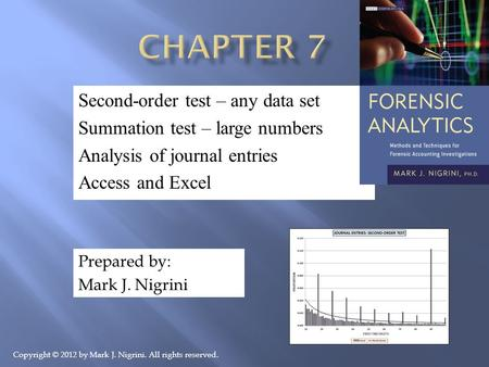 Chapter 7 Second-order test – any data set