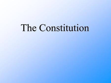 The Constitution. The Articles of Confederation- the first American constitution, passed in 1777, which created a loose alliance of 13 independent states.