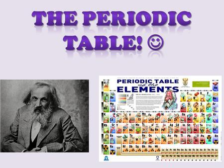 The Periodic Table of Elements Used to keep track of the different elements that are natural & man made Mendeleev used atomic mass. The modern Periodic.