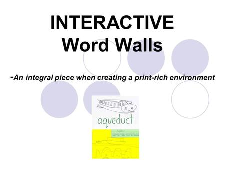 INTERACTIVE Word Walls - An integral piece when creating a print-rich environment.