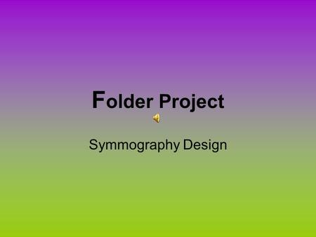 F older Project Symmography Design. Folder Cover Design.