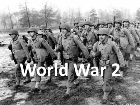 World War 2. After being blamed for World War 1 (1914- 1918) Germany was forced to pay huge compensation costs. It also had to give up some of its land.