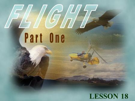 LESSON 18. learn of man's early attempts to fly. read a Greek myth. make a look at early flying machines. learn of man's early attempts to fly. read a.
