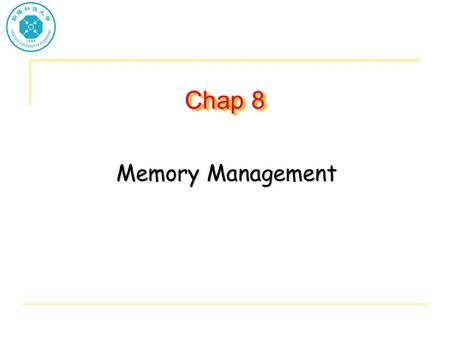 Chap 8 Memory Management. Background Program must be brought into memory and placed within a process for it to be run Input queue – collection of processes.