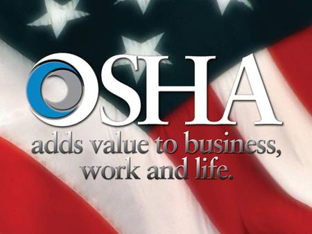 Overview of OSHA and The Dow Chemical Company Case Studies Contractor Safety Motor Carrier Safety Motor Vehicle Accidents Ergonomics The views expressed.