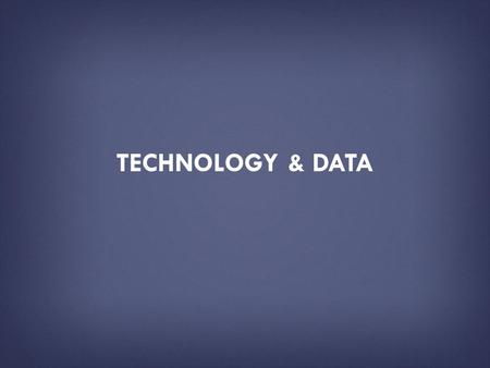 TECHNOLOGY & DATA. HOW TO USE THIS PRESENTATION DECK  This slide deck has been created by the U.S. Department of Education as a resource tool for the.