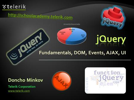 Fundamentals, DOM, Events, AJAX, UI Doncho Minkov Telerik Corporation www.telerik.com.