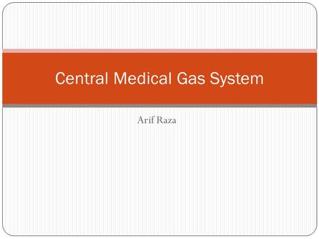 Central Medical Gas System