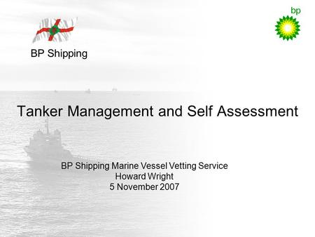 Tanker Management and Self Assessment