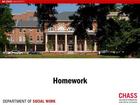 Homework. Homework Demonstrates that you can… Read Critically Analyze Apply Implications for Practice.
