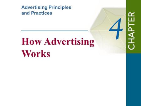 How Advertising Works Advertising Principles and Practices.